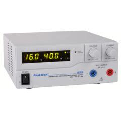 Peaktech 1525 - Kapcsolóüzemű labortápegység, 1 - 16 V / 0 - 40 A DC