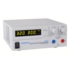 Peaktech 1560 - Kapcsolóüzemű labortápegység, 1 - 32 V / 0 - 30 A DC