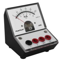 Peaktech 205-04 - Analóg árammérő, 0 ... 50 / 500 mA / 5 A DC
