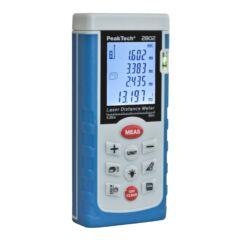Peaktech 2802 - Lézeres távolságmérő, terület és térfogat számítás