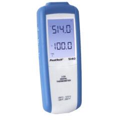 Peaktech 5140 - Digitális hőmérő, 2 CH
