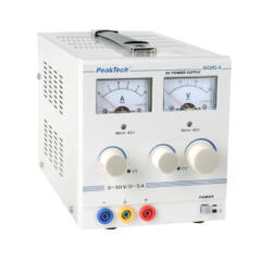 Peaktech 6015A - Analóg tápegység, 0 - 30 V / 0 - 5 A DC