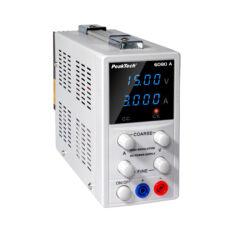Peaktech 6080A - Digitális labortápegység, 0 - 15 V / 0 - 3 A DC