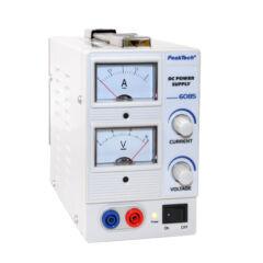 Peaktech 6085 - Analóg labortápegység, 0 - 15 V / 0 - 2 A DC