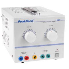 Peaktech 6125 - AC/DC labortápegység 1 - 15 V / 5 A