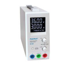 Peaktech 6135 - Kapcsolóüzemű DC tápegység, 1 - 36 V / 0 - 3 A DC
