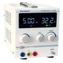 Peaktech 6140 - Digitális labortápegység, 0 - 30 V / 0 - 5 A DC