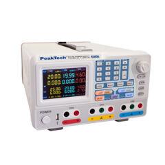 Peaktech 6181 - Digitális labortápegység, 2 x 0 - 30 V / 2 x 0 - 6 A DC, 1 x 0 - 6 V / 0 - 3 A fix