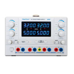 Peaktech 6215 - Digitális labortápegység, 2 x 0 - 30 V / 0 - 5 A DC, 0 - 6,5 V / 3 A DC, 0 - 15V /1 A DC fix