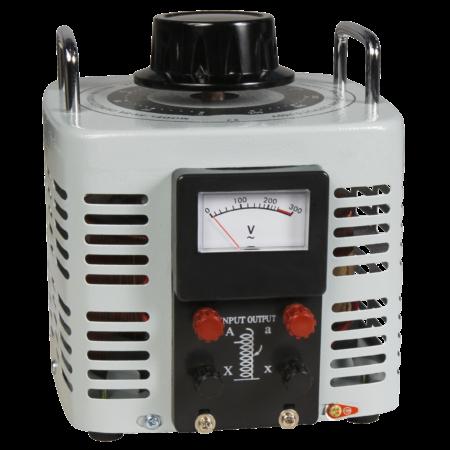 Szabályozható toroid transzformátor, analóg, 0…250 V / 2000 W, McPower V-8000