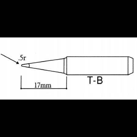 Pákahegy 1 mm hegyes, 900M-T-B SILVER