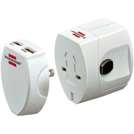 Univerzális Világutazó adapter, földeletlen, USB