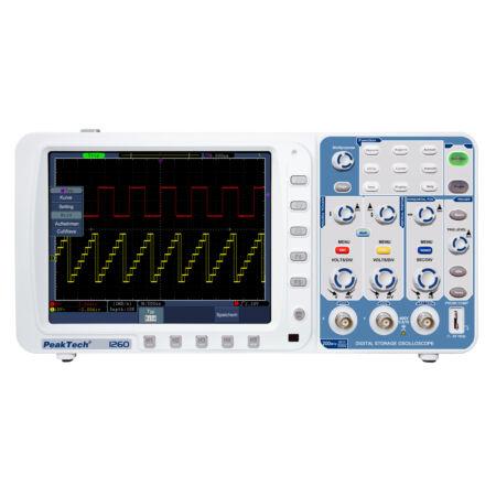 Peaktech 1260 - Digitális tárolós oszcilloszkóp, 200 MHz, 2 GSa/s