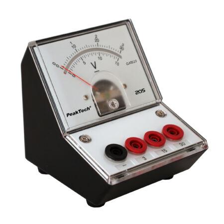 Peaktech 205-06 - Analóg feszültségmérő, 0 ... 3 / 15 / 30 V DC