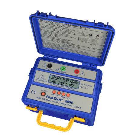 Peaktech 2685 - Digitális szigetelési ellenállásmérő, 10.000 V, 600 GΩ