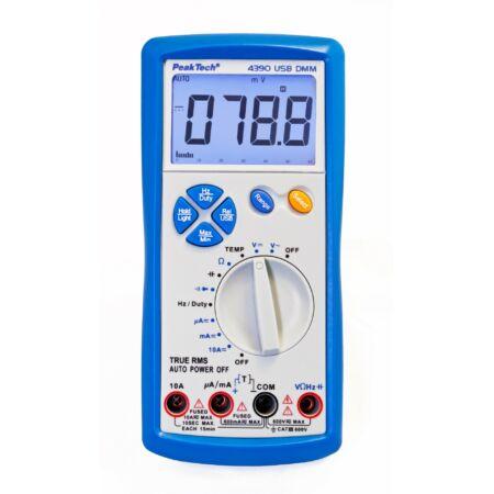 Peaktech 4390 - Digitális multiméter, True RMS, USB