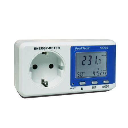 Peaktech 9035 - Fogyasztásmérő, 0,1 W felbontás