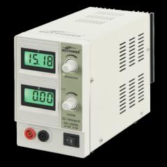McPower NG-1620BL - Digitális labortápegység, 0 - 15 V / 0 - 2 A