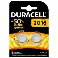 Duracell CR2016 gombelem - 2 db