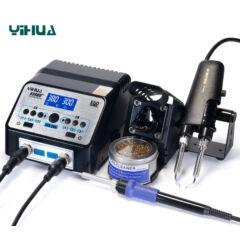 YIHUA 938BD forrasztóállomás + SMD csipesz + pákahegy tisztító