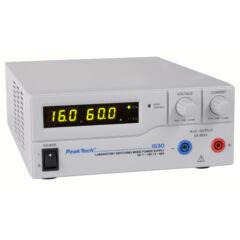 Peaktech 1530 - Kapcsolóüzemű labortápegység, 1 - 16 V / 0 - 60 A DC