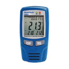 Peaktech 5180 - Hőmérséklet és páratartalom adatgyűjtő