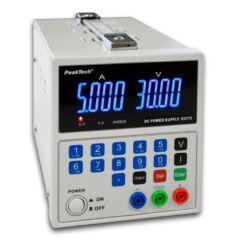 Peaktech 6070 - Digitális labortápegység, 0 - 30 V / 0 - 5 A DC, USB