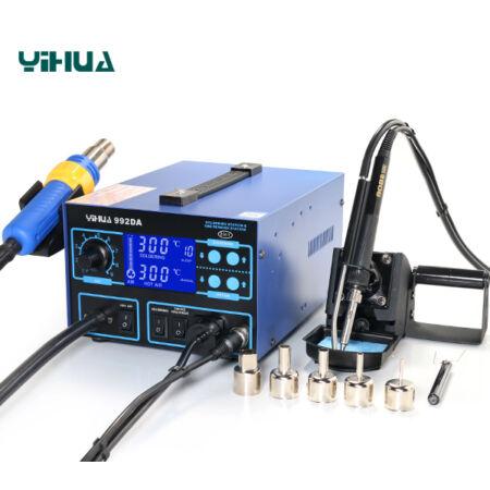Yihua 992DA 2 az 1-ben Forrólevegős forrasztóállomás füstelszívóval 700W 100-450 °C
