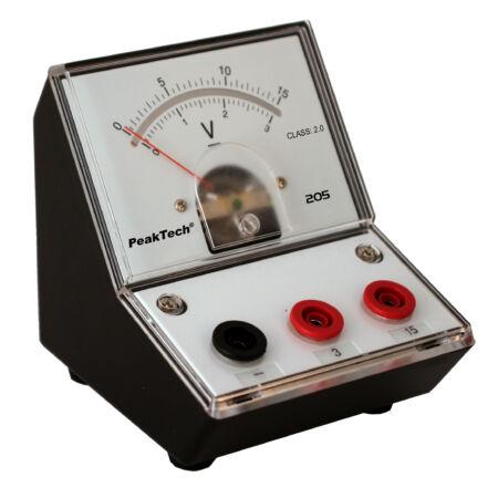 Peaktech 205-05 - Analóg feszültségmérő, 0 ... 3 / 15 V DC