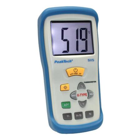 Peaktech 5115 - Digitális hőmérő, 2 CH