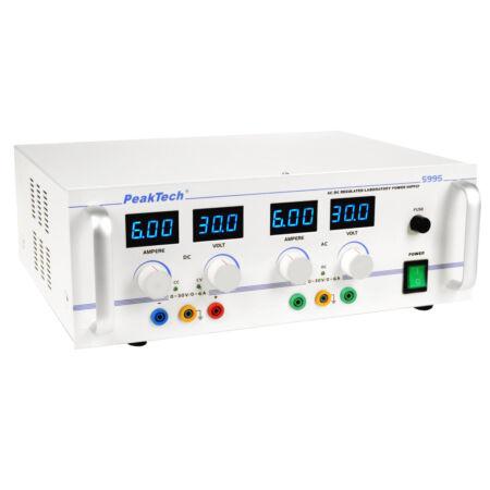 Peaktech 5995 - AC/DC labortápegység 0 - 30 V / 0 - 6 A